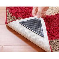 Wholesale Wholesale Washable Rugs - Wholesale-4pcs Rug Carpet Mat Grippers Non Slip Reusable Washable Silicone Grip
