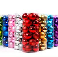 цветной пластик оптовых-4 см красочные мяч баррель упаковка покрытие пластиковые Рождественская елка орнамент Рождество свадьба декор многоцветный дополнительный 6zt КК