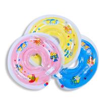 tubos de natación para bebés al por mayor-1pc Bebé Natación Anillo de natación Cuello de baño Anillo de flotador Tubos inflables de seguridad Cuello de seguridad Anillo de cuello de baño de natación 61C