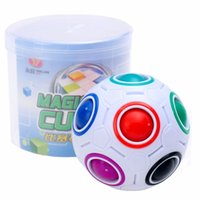 Wholesale plastic puzzles for babies resale online - Spherical Cubes Rainbow Ball Football Magic Speed Cube Puzzle Children Educational Toys GMF For Baby Kids Funny Toy Birthday Gifts
