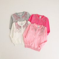 Wholesale Manual Baby - Everweekend Girls Sequins Dots Sweater Cardigans Candy Color Knitted Cute Children Baby Fashion Spring Autumn Clothes
