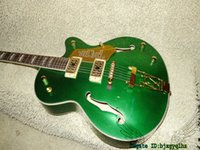 Wholesale hollow body jazz guitars - Green Custom Shop Falcon Jazz Guitar New Arrival High Quality Wholesale From China