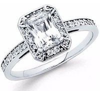 Wholesale Emerald Cut Diamond Yellow Gold - 1.75 ct 14K White Gold Emerald Cut Diamond Solitaire Engagement Ring
