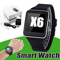 X6 Smart Watch Bluetooth Soporte SIM TF ranura para tarjeta para Sony Samsung Android Apple iPhone Universal Phone Smartwatch 3.0 Relojes electrónicos