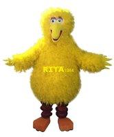 disfraces trajes de aves al por mayor-Traje de la mascota del pájaro amarillo grande traje de fiesta de lujo traje envío gratis