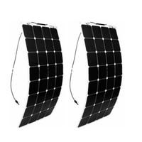 painéis solares flexíveis para barcos venda por atacado-Olarparts 2 PCS * 100 W painel solar flexível barco solar célula RV módulo solar para carro / RV / barco 12 v carregador de bateria