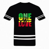 Wholesale Bob Marley T Shirts - Wholesale- Bob Marley One Love Jamaica Reggae Hip Hop Rap Music Cool Mens T Shirt Plus Size Euro tshirt Custom Personalized Tee Shirts