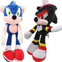 Wholesale Sonic Hedgehog Wholesale - Blue Sonic Sonic the Hedgehog Plush Toys Dolls Soft Stuffed Animal Symbols Children Toys Dolls Gifts Plush Toy 30 cm KKA2854
