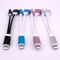 Wholesale for iphone Headphone Adapter Cable in1 Kit Aluminum metal charging lightening connector adapter convertor for iphone s plus