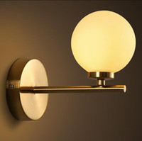 Wholesale New arrival led wall lamps bedroom glass ball wall lights for home G4 Indoor lighting