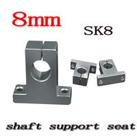 Wholesale Linear Support 8mm - Wholesale- 12pcs lot SK8 SH8A 8mm linear shaft support 8mm Linear Rail Shaft Support CNC parts 3D printer shaft support seat