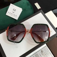Wholesale Luxury Men Style - Luxury Brand Designer 0106 Women Sunglasses Fashion Square Big Summer Style Mixed Color Frame Top Quality UV Protection Lens Come With Case