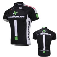 Wholesale Merida Cycling Tops - Free Shipping 4 colors team merida bike jersey mens summer quick dry cycling top 100% polyester Ropa Ciclismo short sleeve MTB bicycle wear