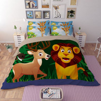 Wholesale Yellow Rose Comforter - CAH031- Multi-Choice Christmas Animals Zoo Comforter Set 3D Print Duvet Bedding Cover Pillow Cases Quilt Cover Bed Bedding Set