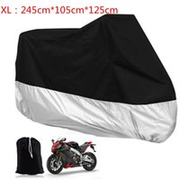 Wholesale Motorcycle Rain Covers - Sale XL Large Motorcycle Waterproof Dustproof Waterproof Rain UV Resistant Dust Prevention Vented Cover for Motor   Bike   Scooter MOT_50Z