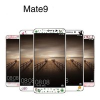 glitter sticker skin NZ - For Huawei Mate 9 Vivo X9 OPPO R9S Plus Cartoon Tempered Glass Screen Protector Glitter Stickers Front Back Clear Flower Skin Retail Package