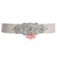 HarveyBridal Luxury Crystal Wedding Sashes Hand Beading Rhinestone Brooch с 300cm длиной сатинировки 5 цветов Avaiable Bridal Belt 2017