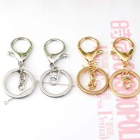 Wholesale Lobster Key Chain - Gold Color Lobster Clasp Key Rings 33mm Silver Key Chains For DIY Necklacebracelet Jewelry Making Accessories