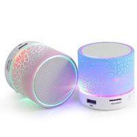 осветительные колонки оптовых-Мини-A9 громкой связи беспроводной Ночной свет Bluetooth динамик поддержка TF USB FM-радио наушники микрофон сабвуфер трещины шаблон TF карты AUX вход