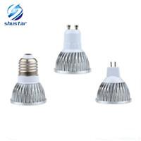 12v led b22 toptan satış-Led Ampuller E27 B22 MR16 9 W 12 W 15 W Dim E14 GU5.3 GU10 Led Spot ışıkları led downlight lambaları