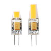 12v ac dc bombillas led al por mayor-Regulable G4 LED 12V AC / DC COB Luz 2W 4W LED Bombilla Lámparas de araña Reemplace las luces halógenas 100pcs / lot