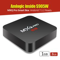 Wholesale Eu Uk White - MXQ Pro Android 7.1 TV Box KDMC 17.4 Amlogic S905W   RK3229 1GB 8GB 4K Quad Core WiFi Streaming Media Player Smart Boxes Better TX2 x96 mini