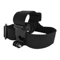 Wholesale Gopro Hero Head - Action Camera Gopro Accessories Headband Head Strap Mount Monopod For Go pro Hero 3 3+ 4 5 SJ4000 SJ5000 Sport Cam Helmet