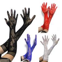 esaret için eldiven toptan satış-Seks Dantel Eldiven Uzun Elastik Seksi Kol Kol Parti Yetişkin Oyunları Fetiş Kadınlar için Seks Oyuncakları Kız SM Esaret Erotik Oyuncaklar
