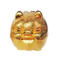 Wholesale Tin Piggy Banks - Infants and young children souvenir Large and medium size Gold Cute little pig piggy bank kids Coin CounterChristmas Halloween Gifts
