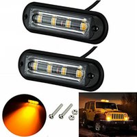 2 Unids 4LED Car Truck Strobe Flash Warning Side Maker luces traseras del carro de luz intermitente Luz de Emergencia Impermeable envío gratis