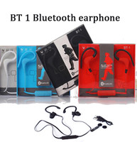 Wholesale Iphone Inear - bt-1 BT1 bluetooth wireless handfree stereo sports jogging inear in-ear earphone for iphone 5 5s 6 7 7plus samsung s6 s7 s8 with retail pack