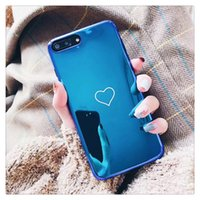 Wholesale Love Heart Phone Cases - For iPhone X 7 8 plus Soft TPU Smooth Phone Case with Candy Colorful Love Heart Gel Silicone Cover For iphone 6 plus