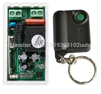Wholesale garage door switches - Wholesale- NEW AC220V 1CH 10A Receiver Remote Control Garage Door RF Wireless Remote Control Switch System 1X Transmitter + 1 X Receiver