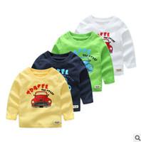 Wholesale Undershirt Child Boy - Design Boy T-shirt 100% Cotton Car Carton Printing Child Undershirt New Autumn Long Sleeve Baby Boy Cloth Children's Wear 2017