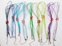 Wholesale Waxed Cord Ribbon Necklace - 18inch Ribbon Wax Snake Necklace Cord ,1.8inch Extender Chain,12mmx7mm Lobster Clasp, 3pcs Wax Cotton Cord ,DIY Accessory