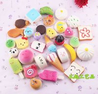 Wholesale Donut Mobile - In Stock!!! 10pcs set Mobile Phone Straps Squishy Cute Soft Panda Bread Donut Phone Keychain for Phone Decor