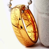 Wholesale Couple Rings Stone - (1 pieces lot) 100% 316I Stainless steel Chain Ring Lord of The Rings For Women Valentine's day gifts For Men   Couples