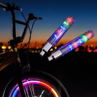 Wholesale 2pcs LED Lights Lamp Bike Bicycle Wheel Tire Valve Spoke changes Neon Cap