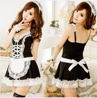 Wholesale Maid Uniform Cute - Wholesale-Free shipping!Hot sale NEW cosplay uniforms Sexy Costumes for women,Fanny Cute French Adult Sexy Maid Costumes!