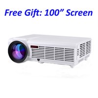 Wholesale Full Hd 3d Led Projektor - Wholesale-Android wifi smart lcd tv led projector full hd accessories 1920x1080 3d home theater projetor video proyector projektor beamer