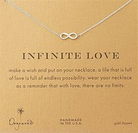 Wholesale Infinity Heart Pendant - Gold Silver Infinite love Dogeared Infinity Necklace Party Gift For Women Girls
