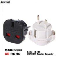 Wholesale European Socket Power Converter - High Quality Universal Travel AC Power Socket 9625 UK To EU Adapter Converter Plug European Switch Plug