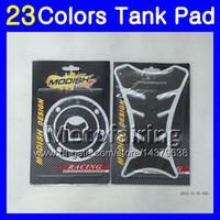 honda cbr gaz tankı pedleri toptan satış-23 Renkler 3D Karbon Fiber Gaz Tank Pad Koruyucu HONDA CBR1000RR 04 05 06 07 CBR1000 RR CBR 1000 RR 2004 2005 2006 07 3D Tank Cap Sticker