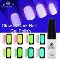 Vente en gros - Saviland 1pcs Soak Off Gel UV Fluorés fluorescents Neum Luminous Gel Vernis à ongles Vernis Glow in Dark Esmalte Vernis anti ongles