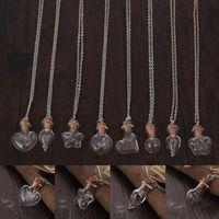 bestellen flaschenkristall großhandel-Explosion handgemachte DIY Schmuck Glas Flasche Löwenzahn kreative Drift Flasche Anhänger Halskette WFN276 (mit Kette) Mischungsauftrag 20 Stück viel