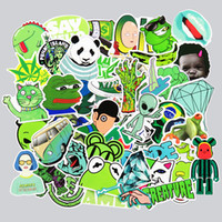 Wholesale Cool Laptop Decals - Not Repeat 50 Pcs Green Stickers For Car Styling Luggage Laptop Decoration Cool Decal Fashion Brand Vinyl DIY Funny Sticker