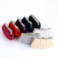 Wholesale Lace Wedding Clutches - Wholesale-Designer Women's Chain Day Clutches Wedding Evening Bag Ladies Rhinestone Cluth Luxury Diamond Handbag White Purse Woman Tote