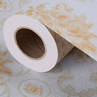 Wholesale Hotel Kids Free - Thickenin self-adhesive wallpaper waterproof and moisture-proof hotel KTV decorative special earth golden classical pattern free shipping