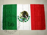 Wholesale Cm Festival - Mexico Banner Mexican national Free shipping 3x5 FT 90*150cm National flag for Festival the world cup Home Decoration Mexico
