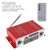 Wholesale audio amplifier digital input - HY-602 HI-FI Car Amplifier Digital Audio Player FM Radio Stereo Player Support SD USB DVD MP3 Input with Remote Control CAU_10N